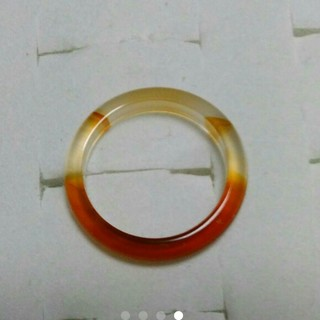 15号 左上3【数量限定  細い瑪瑙リング】 天然石メノウ リング(リング(指輪))