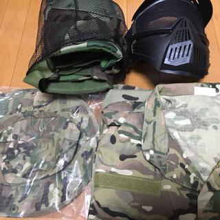 ノーブランド 迷彩服 フェイスガードセット(戦闘服)