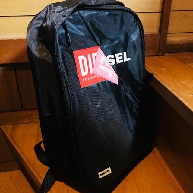 DIESEL(ディーゼル)の新品未使用、ディーゼル、リュックサック、正規品タグ付き、Diesel、黒 キッズ/ベビー/マタニティのこども用バッグ(リュックサック)の商品写真