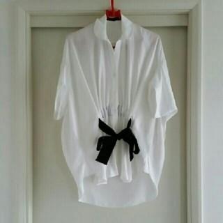 ソフィット(Soffitto)のSoffitto グログランリボンシャツ ソフィット 日本製(Tシャツ(半袖/袖なし))