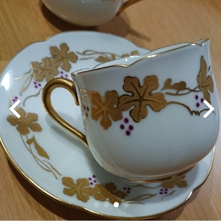 オオクラトウエン(大倉陶園)のデミタスカップ&ソーサー☆大倉陶園(食器)