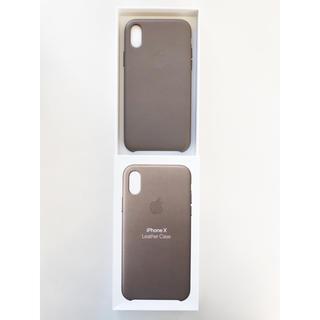 ▪️新品未使用▪️Apple製 純正 iPhone X レザーケース トープ