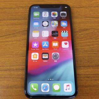 アップル(Apple)の未使用 Apple iPhone X スペースグレ256GB auネットワーク○(スマートフォン本体)