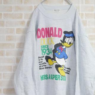 ディズニー(Disney)の古着90's ドナルドダック スウェット ディズニー DIA club(スウェット)