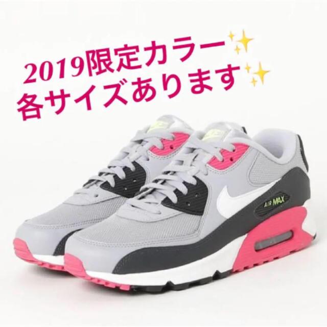 NIKE(ナイキ)の2019限定カラー❤️ナイキ エアマックス90エッセンシャル❤️グレー×ホワイト レディースの靴/シューズ(スニーカー)の商品写真