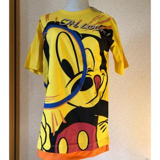 ディズニー(Disney)のタグ付 Disney RESORT ミッキー Tシャツ 虫めがね  S(Tシャツ/カットソー(半袖/袖なし))
