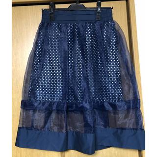 ドールアップウップス(doll up oops)の【美品】チュールスカート(ひざ丈スカート)