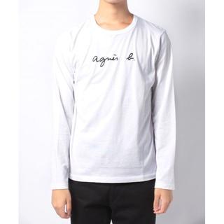 agnes b.長袖Tシャツ 白 メンズ