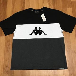 カッパ(Kappa)の【 kappa 】新品 カッパ ビックロゴTシャツ チャコール(L L)(Tシャツ/カットソー(半袖/袖なし))