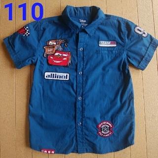Disney - カーズ 半袖 シャツ 110 襟 青 ディズニー