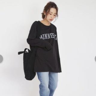 アングリッド(Ungrid)のロゴプリントロングスリーブTEE(Tシャツ/カットソー(七分/長袖))