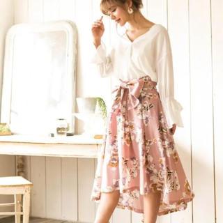 ダチュラ(DaTuRa)のDaTuRa フラワーラインアートミディスカート(ひざ丈スカート)