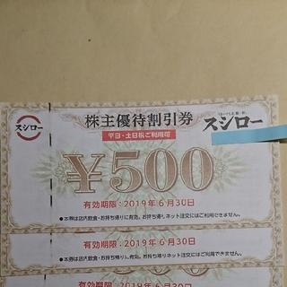 スシロー株主優待券 1,000円分(レストラン/食事券)