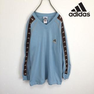 アディダス(adidas)の90s adidas ロンT パフォーマンスロゴ サイドロゴ(Tシャツ/カットソー(七分/長袖))