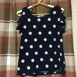 シマムラ(しまむら)の水玉 オフショルダー Tシャツ(Tシャツ(半袖/袖なし))