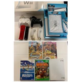 ウィー(Wii)のWii&コントローラー&ゲームソフト♡(家庭用ゲーム本体)