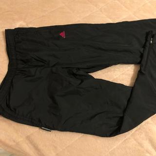 adidas - アディダス 黒 ウィンドブレーカー パンツ 150 160