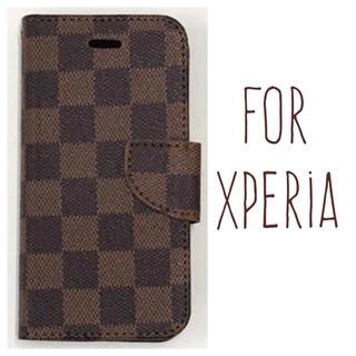 送料無料◎茶色 スマホケース Xperia XZ XZs XZ1 XZ2 手帳型