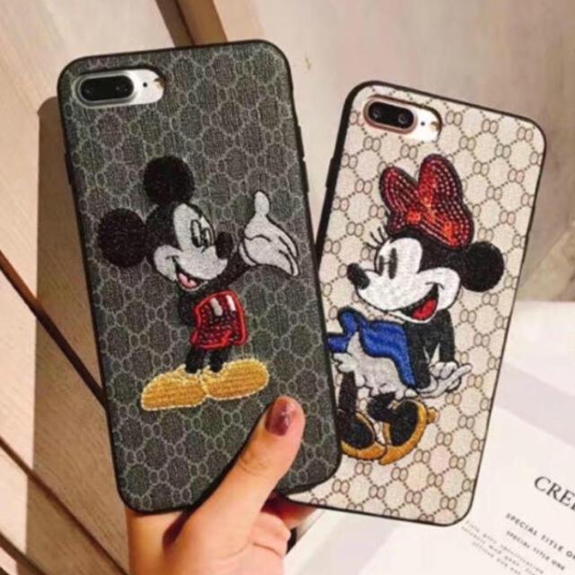ディズニー iphone7 ケース 財布 | ミッキー ミニーちゃん 刺繍入り iPhoneケース 新品の通販 by USA's shop|ラクマ
