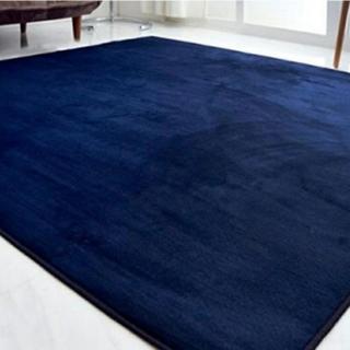 新品★☆大きいサイズ☆ふわっふわなさわり心地☆カーペット/絨毯/ラグ/ネイビー