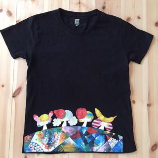 グラニフ(Design Tshirts Store graniph)のSSサイズ グラニフ×はらぺこめがね 黒Tシャツ(Tシャツ(半袖/袖なし))