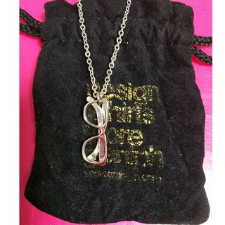 グラニフ(Design Tshirts Store graniph)のグラニフ メガネモチーフネックレス👓️ シルバー 美品✨(ネックレス)