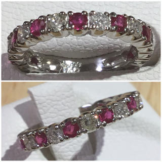 ゆんたろう様専用❗️鮮やか!ルビー&ダイヤモンドリング 指輪8号 プラチナ900(リング(指輪))