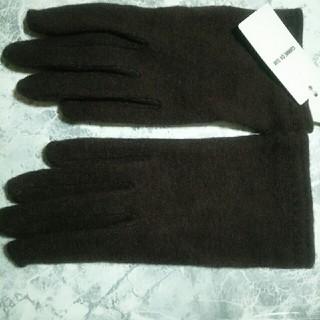 コムサイズム(COMME CA ISM)の新品未使用タグ付き コムサイズム 手袋 茶色 ウール COMME CA ISM(手袋)