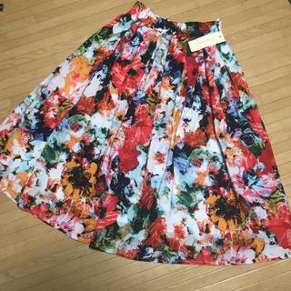 しまむら - 【新品】花柄スカート