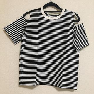 ルカ(LUCA)のLUCA ボーダーオフショルTシャツ(Tシャツ(半袖/袖なし))
