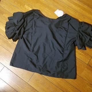 新品 ボリューム袖 授乳服 カットソー