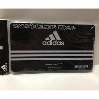 アディダス(adidas)のアディダス adidas 色鉛筆   12色セット  三菱鉛筆 丸軸 黒  (色鉛筆)