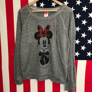 ディズニー(Disney)のUSA古着 ミニー ロンT ジュニアL(Tシャツ(長袖/七分))