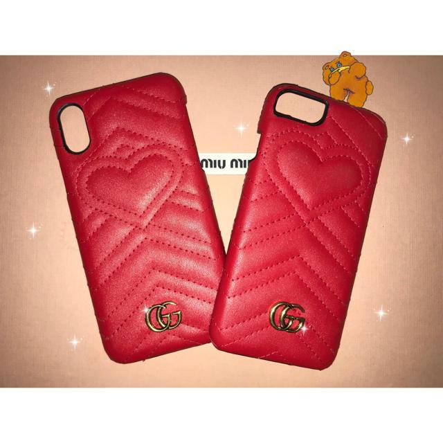 iphone8 赤 似合う ケース - Gucci - gg marmont iPhone caseの通販 by 🐶|グッチならラクマ