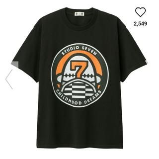ジーユー(GU)の【新品】GU★STUDIO SEVEN★ヘビーウェイトビッグT ブラック M(Tシャツ/カットソー(半袖/袖なし))