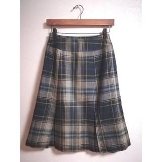 サンタモニカ(Santa Monica)の【vintage】チェック フレアスカート(ひざ丈スカート)