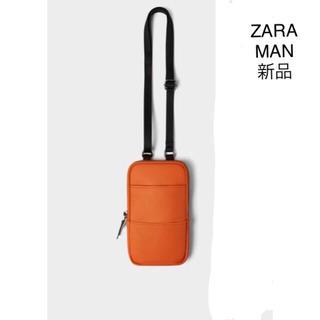 ZARA - ZARA 携帯電話 バック オレンジ