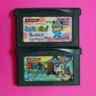 ゲームボーイアドバンス(ゲームボーイアドバンス)のGBAソフト、ミルモでポン!夢のカケラとコロッケ4バンクの森の守護神セット(携帯用ゲームソフト)