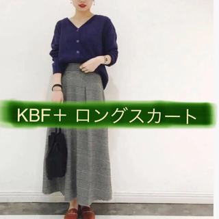 ケービーエフプラス(KBF+)のKBF プラス  チェックロングスカート(ロングスカート)