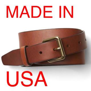 ギャップ(GAP)の新品 gap 本革 アメリカ製 ローラーバックル チノベルト ブラウン ブラック(ベルト)