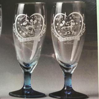 ディズニー(Disney)のディズニーのミッキー&ミニー プレミアムカラーペアグラス(グラス/カップ)