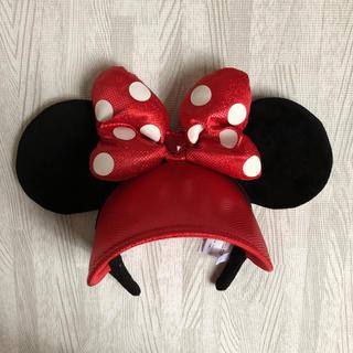ディズニー(Disney)のミニーちゃん 耳 カチューシャ  サンバイザー(小道具)