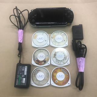 ソニー(SONY)のPSP1000 ソフト6本付き 中古 その2(携帯用ゲーム本体)