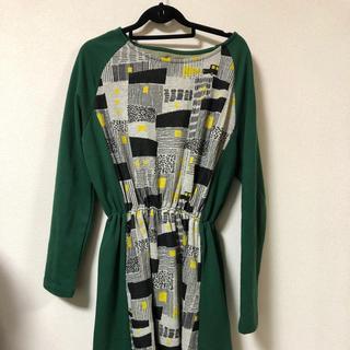 グラニフ(Design Tshirts Store graniph)の新品 グラニフ graniph 長袖ワンピース(ひざ丈ワンピース)