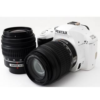 ペンタックス(PENTAX)の☘️白で一眼スタート☘️ペンタックスK-x☘️充実のWズームキット☘️スマホ転送(デジタル一眼)