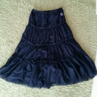 コンビミニ(Combi mini)のコンビミニ リボンキャスケット☆ロマンチストスカート☆新品未使用☆Mサイズ(ひざ丈スカート)