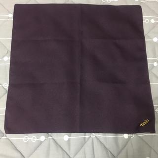 クツシタヤ(靴下屋)のTabio風呂敷(濃い紫色)(ハンカチ)