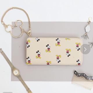 ディズニー(Disney)のDISNEY ディズニー ミッキーマウス リングチャーム L字ウォレット 長財布(財布)