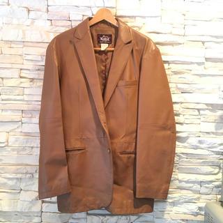 ウールリッチ(WOOLRICH)のWoolrich ウールリッチ レザージャケット 茶色革 サイズ XL(ブルゾン)