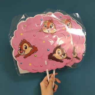 ディズニー(Disney)の新品 ディズニー チップとデール 夏祭り うちわ(うちわ)